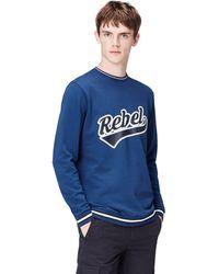 FIND Rebel Print Crew Neck - Blue