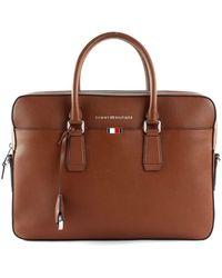 Tommy Hilfiger Business Leather Aktentasche 15? Cognac - Braun