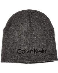 Calvin Klein Classic Beanie Strickmütze - Grau
