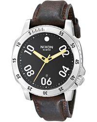 Nixon Kensington Leather Gold/black Casual Designer 's Watch