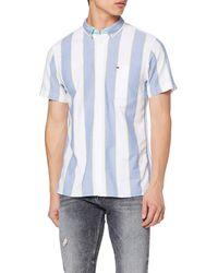 Tommy Hilfiger TJM Striped Oxford Shirt Camisa - Azul