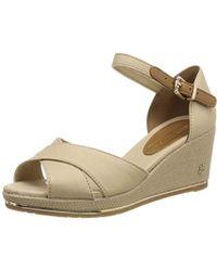 54648bd5cf6 Tommy Hilfiger - Feminine Mid Wedge Sandal Basic Platform - Lyst