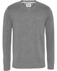 Tommy Hilfiger TJM Essential V-Neck Sweater Suéter - Azul