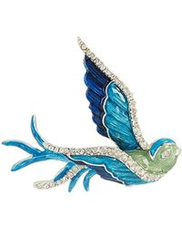 Napier Boxed Flying Bird Brooches And Pin, Multi, 0 - Blue
