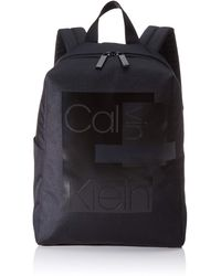 Calvin Klein Layered Round Backpack - Negro