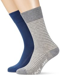 Levi's Levis 168sf Regular Cut Vintage Stripe 2p Calcetines - Azul