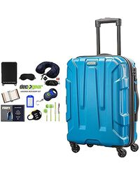 ab037cefa107 Centric Hardside Carry-on Luggage With Deco Gear Ultimate 10pc Luggage  Accessory Kit - Blue