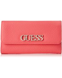 Guess Uptown Chic SLG Pocket Trifold - Rouge