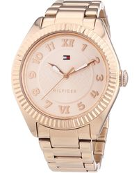 Tommy Hilfiger Maxi Quartz Watch With Gold Dial Analogue Display And Gold Rose Gold Bracelet 1781344 - Metallic