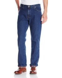 Dickies Relaxed Fit Flannel Lined Jean - Blue