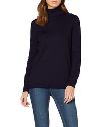 S.oliver RED Label Feinstrickpulli mit Turtleneck Navy 34 - Blau