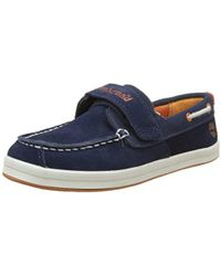 Timberland - Dover Bay H&l Boatblack Iris Suede with Orange, Chaussures Bateau Mixte Enfant - Lyst