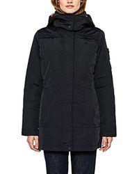 Esprit 097ee1g025 Abrigo - Negro