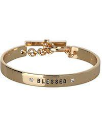 BCBGeneration - Bcbg Generation Crystal Blessed Cuff Bracelet - Lyst