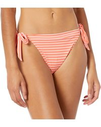 Amazon Essentials Side Tie String Bikini Bottom Fashion Sets - Rose