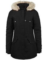Vero Moda Patrice Wo Parka Outdoor Jacket Winter Coat With Hood - Black
