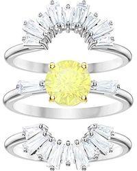 Swarovski Ring Metall Kristalle 32004830 - Gelb