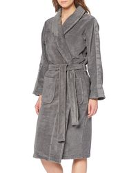 Calvin Klein Damen Robe Bademantel - Grigio