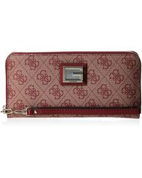 Guess Valy SLG Large Zip Around Merlot - Multicolore