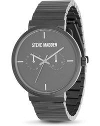 Steve Madden Dress Watch Smw405gu - Black