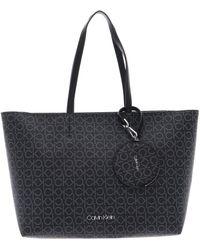 Calvin Klein CK Mono Shopper Black Mono Mix - Nero