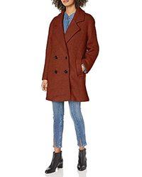 Steve Madden Wool Fashion Coat - Brown