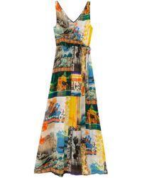 Desigual WOMAN WOVEN DRESS SWIMWEAR - Blu
