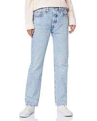 Levi's 501 Crop Straight Jeans - Blau