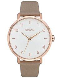 Nixon Arrow Leather, Color: All Gold / Black - Mettallic