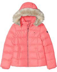 Tommy Hilfiger Essential Basic Down Jacket Chaqueta - Rosa