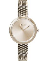 BOSS by Hugo Boss - Reloj Analógico para Mujer de Cuarzo con Correa en Acero Inoxidable 1502498 - Lyst