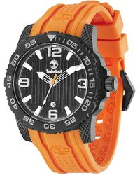 Timberland Quartz Watch With Black Dial Analogue Display And Orange Rubber Strap Tbl.13613jsb/02 - Multicolour