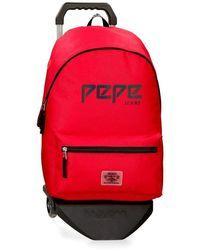 Pepe Jeans Mochila con - Rojo