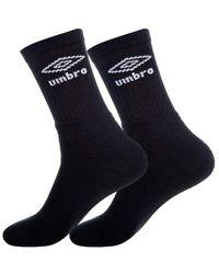 Umbro T046-1-h Socks Black 43/46 - Blue