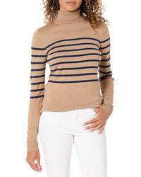 Amazon Essentials Suéter Ligero de Cuello Alto - Neutro