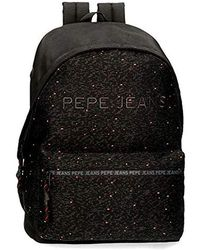 Pepe Jeans Hike Black Adaptable Laptop Backpack