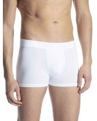 CALIDA Cotton Code Boxer - Bianco