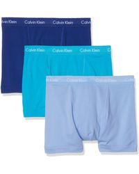 Calvin Klein 3er-Pack mittlere Taille Hüft-Shorts - Cotton - Blau