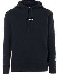 Oakley Sweatshirts Street Logo Tape Hooded Fleece - Blue