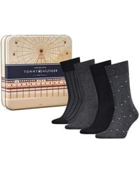 Tommy Hilfiger Th Ss19 Giftbox 4p Calf Socks - Black