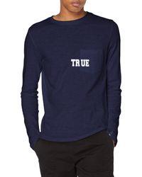 True Religion Longsleeve T-Shirt - Blau