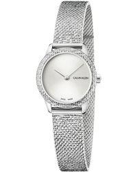 Calvin Klein Damen Analog Quarz Uhr mit Edelstahl Armband K8U2S116 - Mettallic