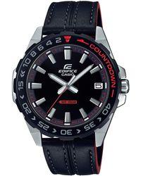 G-Shock - Orologio Analogueico Analogico Quarzo Uomo con Cinturino in Vera Pelle EFV-120BL-1AVUEF - Lyst