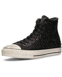 Converse By John Varvatos CT Hi Studded Leather Sneaker - Schwarz