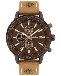 Timberland S Analogue Quartz Watch With Leather Strap Tbl.15952jyu/02 - Brown