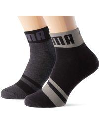 PUMA Seasonal Logo Quarter Socks - Nero