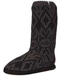 Helly Hansen Knitted Cabin Slipper Sock, Ebony, Medium/5-7 M Us - Black