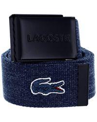 Lacoste Woven Strap W90 Marine Chine - raccourcissable - Bleu