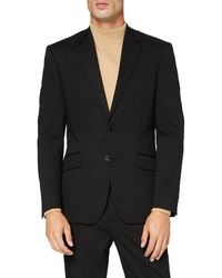FIND Amazon-Marke: Blazer Stretch Regular Fit Blazer - Schwarz