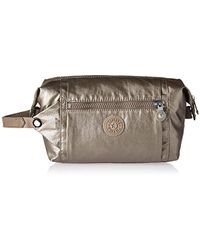 Kipling - Aiden Toiletry Bag, Essential Travel Accessory, Metallic Pewter - Lyst